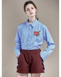 W Concept - Shirring Short Pants Wine - Lyst