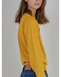 W Concept - Thomas Knit -yellow - Lyst