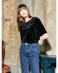 COLLABOTORY - Bacmb2001m Velvet Short Sleeve T-shirt_black - Lyst