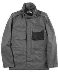 W Concept - Reflective Pocket M-65 Jacket Charcoal - Lyst