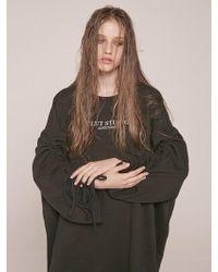 CLUT STUDIO - [unisex] 0 3 Shirring Sweatshirt - Black - Lyst