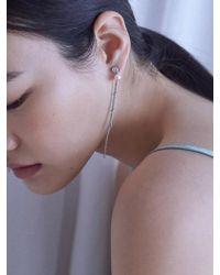 Matias - Silver Rain Chain Earring - Lyst