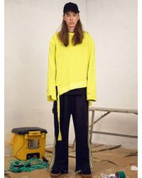 W Concept - [unisex] Very Busy Sweat Shirt Neon - Lyst