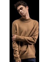 W Concept - Lambswool Half Neck Knit_beige - Lyst