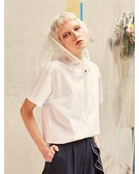 2551c9ecca0 H.o.w.l. - Removable Hood Short Sleeve T-shirt - Lyst