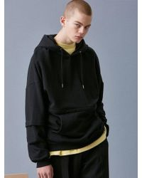 VOIEBIT - [unisex] V338 Zipper Hoodie Sweatshirt_black - Lyst