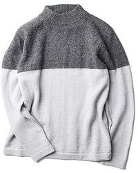 Still By Hand 2 Tone Pullover Knit Grey