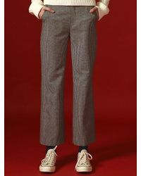 Margarin Fingers - Check Wide Pants - Lyst