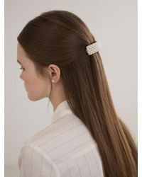 W Concept - Pearl N Cubic Square Hairpin - Lyst