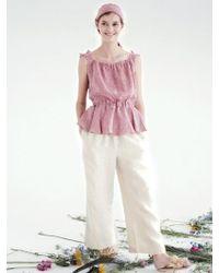 THE ASHLYNN - Selflove June Gingham Backless Top_red - Lyst