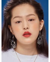 VIOLLINA - Bunny Drawing Earring - Lyst