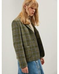 W Concept - Via Tartan Casual Single Jacket - Lyst