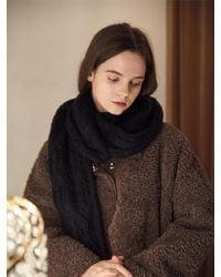 W Concept - Bazas Knit Muffler - Lyst