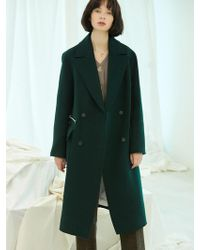 Clue de Clare - Stitch Double Coat Green - Lyst