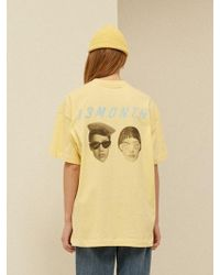 13Month - [unisex] Two Face Printing T-shirt Yellow - Lyst