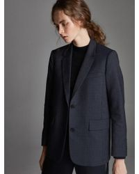 OUAHSOMMET - Classic Wool Single Suit Jacket_gray - Lyst