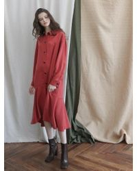 PLOT - Low Flare Unbalance Trench Coat_2colors - Lyst