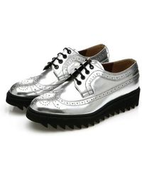 DEMIHAND - Shark Long-wing Brogues Silver - Lyst
