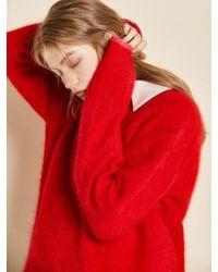 Clue de Clare - Oversize Angora Knit Red - Lyst