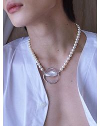 Matias - Twist Silver Glass Necklace - Lyst