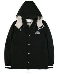 W Concept - Hooded Coach Jacket Black - Lyst