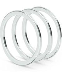 Weekday - Flat Shiny Ring Set - Lyst