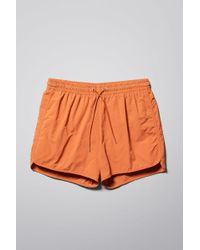 Weekday - Tan Structure Swim Shorts - Lyst
