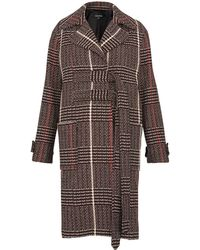 Whistles - Jerry Belted Check Coat - Lyst