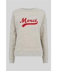 Whistles - Merci Embroidered Sweatshirt - Lyst