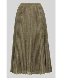 Whistles - Sparkle Pleated Skirt - Lyst