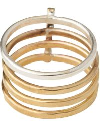 Whistles - Made Contrast Bar Ring - Lyst