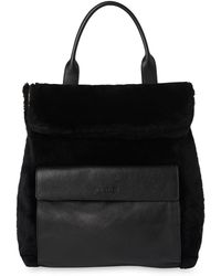 Whistles - Shearling Verity Backpack - Lyst