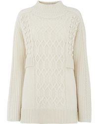 Whistles - Oversized Cable Knit - Lyst