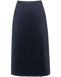 Whistles - Satin Pleated Skirt - Lyst