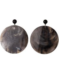 Whistles - Statement Circle Resin Earring - Lyst