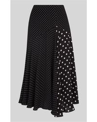 Whistles - Asymmetric Dot-print Skirt - Lyst