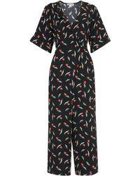 Whistles - Alma Tulip Print Wrap Jumpsuit - Lyst
