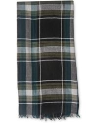 Whistles - Green Check Scarf - Lyst