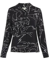 Whistles | Athena Print Silk Pyjama Shirt | Lyst