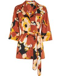 Whistles - Sylvia Floral Silk Shirt - Lyst