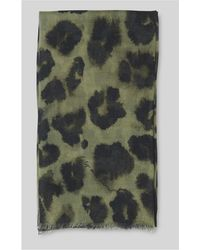 Whistles - Lily And Lionel Leopard Scarf - Lyst