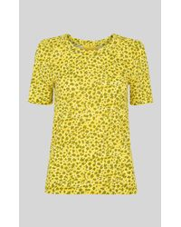 Whistles Clouded Leopard Print Rosa Tee - Amarillo