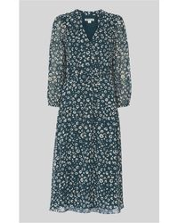 Whistles Lola Cheetah Print Dress in Black - Save 61% - Lyst 310877336