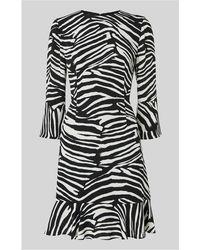 Whistles - Zebra Print Flippy Dress - Lyst