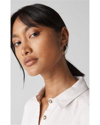Whistles - Multi Sphere Hoop Earring - Lyst
