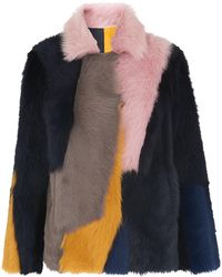 Whistles - Colour Block Toscana Coat - Lyst