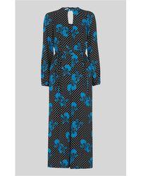 Whistles - Kira Spot Floral Silk Jumpsuit - Lyst
