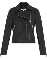 Whistles - Agnes Leather Biker - Lyst