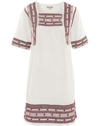 Whistles - Selina Embroidered Dress - Lyst