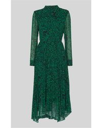 Whistles - Jungle Cat Pleated Dress - Lyst